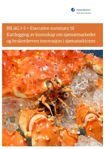 BILAG 1-5 + Executive summary til Kartlegging ... - Nordic Innovation