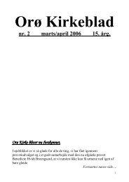 Nr. 2 mar/apr 2006 - Orø Kirke