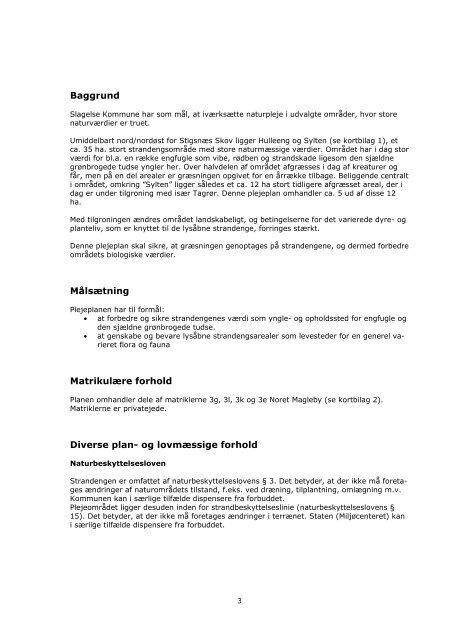 Naturkvalitetsplan Plejeplan - Slagelse Kommune