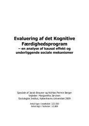 Evaluering af det Kognitive Færdighedsprogram - AKF