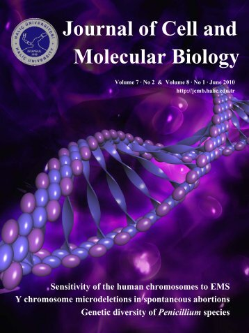 Download - Journal of Cell and Molecular Biology - Haliç Üniversitesi