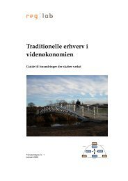 Traditionelle erhverv i videnøkonomien - Copenhagen Economics