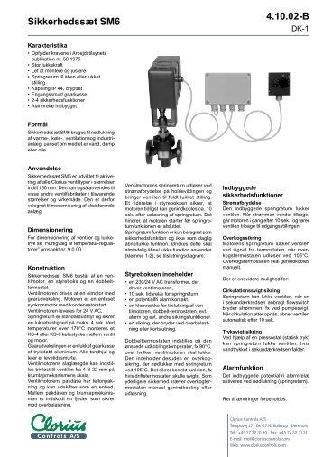 Sikkerhedssæt SM6, clorius 4.10.02 DK - Clorius Controls
