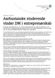 Download pressemeddelelse - Erhvervsakademi Aarhus