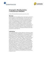 Strategisk offentlig ledelse i reformernes tidsalder - Conmoto
