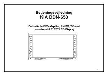 Betjeningsvejledning KIA DDN-653