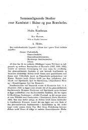 Sammenlignende Studier over Kambriet i Skåne og paa Bornholm. I ...