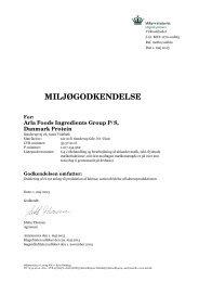 læs miljøgodkendelse af ny laktoseafdeling - Miljøstyrelsen