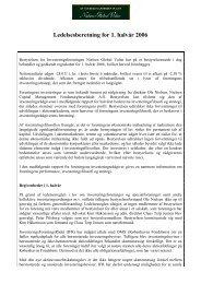 Ledelsesberetning for 1. halvår 2006 - Nielsen - Global Value