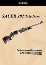 Betjeningsvejledning og sikkerhedsforskrifter ... - Sauer