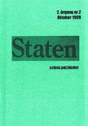 Oktober 1999, årgang 2, nr. 2 - STATEN