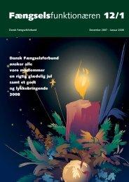 Fagblad 12/2007 - Fængselsforbundet