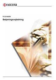 Betjeningsvejledning - KYOCERA Document Solutions