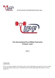 generelle regler for konkurrence i styrkeløft - International ...