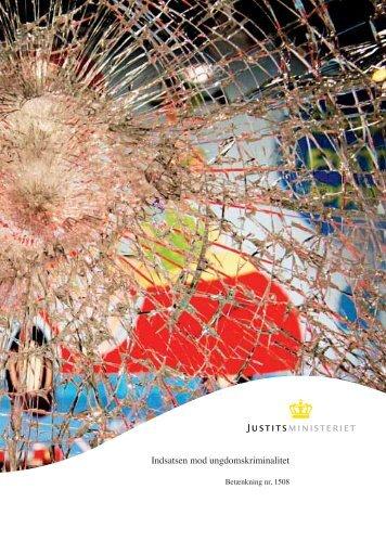 Indsatsen mod ungdomskriminalitet - Justitsministeriet - Publikationer