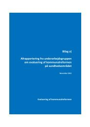 Bilag a) Afrapportering fra underarbejdsgruppen om evaluering af ...