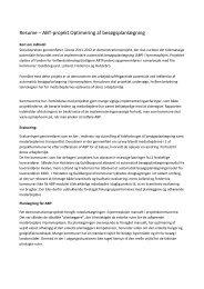 Resume – ABT-projekt Optimering af besøgsplanlægning