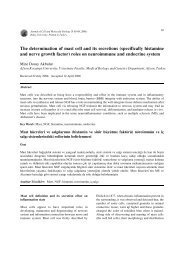 The determination of mast cell and its secretions - Journal of Cell ...