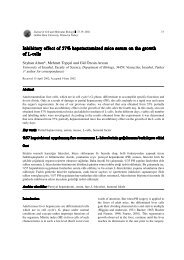Inhibitory effect of 57% hepatectomized mice serum on the growth of ...