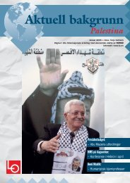 Aktuell bakgrunn Palestina