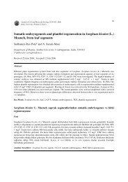 Somatic embryogenesis and plantlet regeneration in Sorghum ...