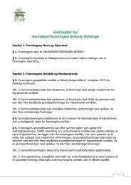 Vedtægter for Grundejerforeningen Birkely Helsinge - Velkommen til ...