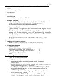 Stiftende generalforsamlings referat - DSAU