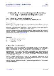 Indkaldelse til ekstraordinær generalforsamling vedr. salg ... - EF1386