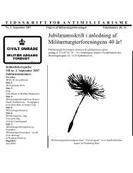 Militærnægterforeningen 40 år - Viggojonasen.dk