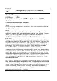 Økologisk Rugeægsproduktion i Danmark - Videncentret for Landbrug