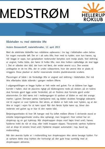 Læs hele nyheden fra materielforvalteren her - Hellerup Roklub