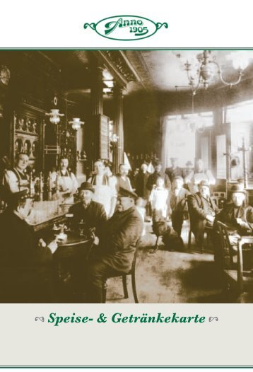 Getränke - Anno 1905