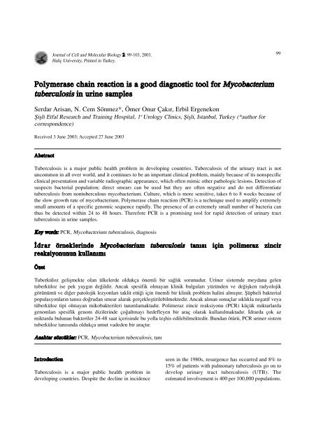 Polymerase chain reaction is a good diagnostic tool - Journal of Cell ...