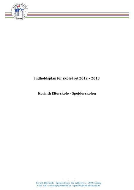Indholdsplan for skoleåret 2012 – 2013 Korinth Efterskole ...