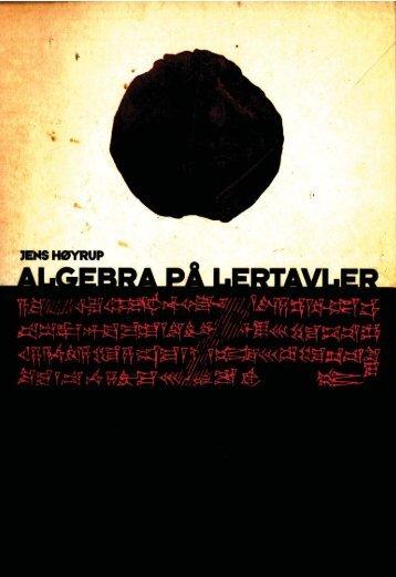 Algebra på lertavler - akira.ruc.dk