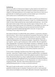 Indledning - Historie - Adoption og Samfund