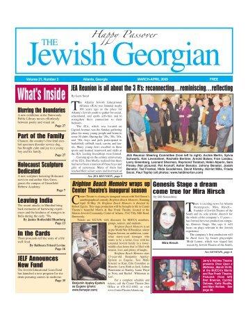 JGA Mar-Apr 09 - The Jewish Georgian