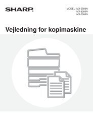 MX-5500N/6200N/7000N Operation-Manual Copier DK - Sharp
