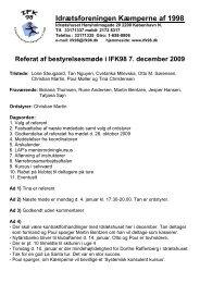 Referat af bestyrelsesmøde i IFK98 7. december 2009
