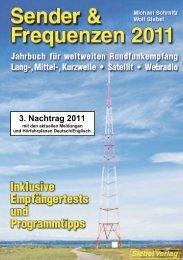 3. Nachtrag zu Sender & Frequenzen 20122