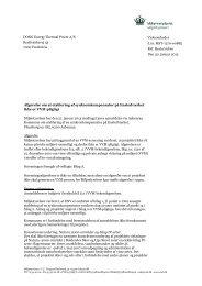 Afgørelse om ikke VVM-pligt for Enstedværket, inkl ... - Miljøstyrelsen
