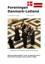 Blad nr. 1 - 2011, 19. årgang - Foreningen Danmark - Letland
