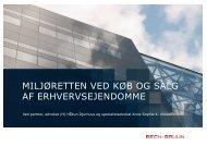 miljøretten ved køb og salg af erhvervsejendomme - Bech-Bruun