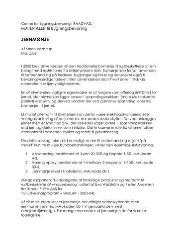 JERNMØNJE - Center for Bygningsbevaring