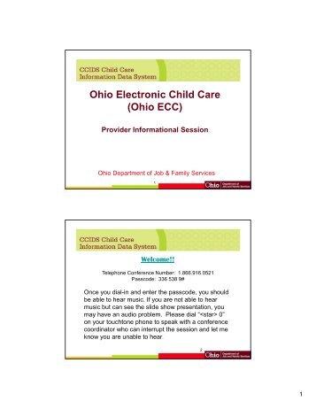 Ohio Electronic Child Care Ecc Department Of Job