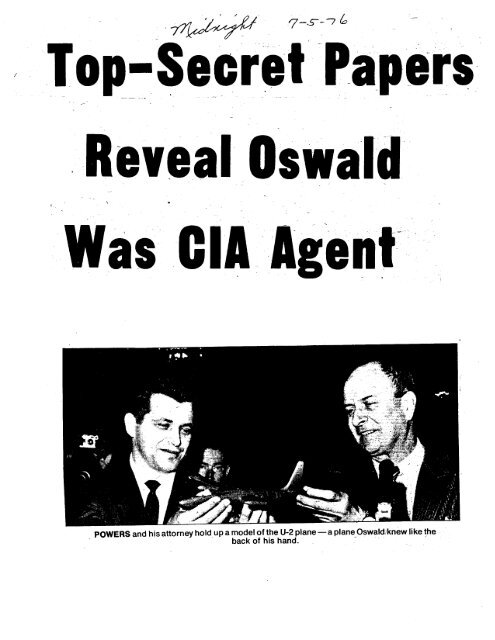 Top Secret Papers Reveal Oswald Was CIA Agent