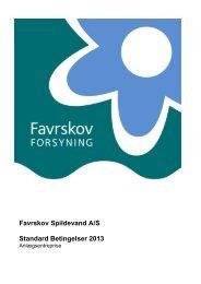 Standard Betingelser 2013 - Favrskov Forsyning