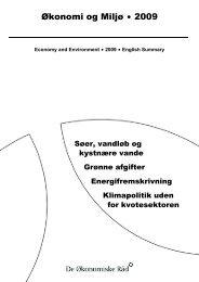 Økonomi og Miljø $ 2009 - De Økonomiske Råd
