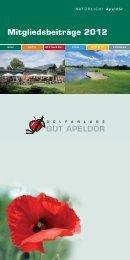 Mitgliedsbeiträge 2012 - Golf Club Gut Apeldoer