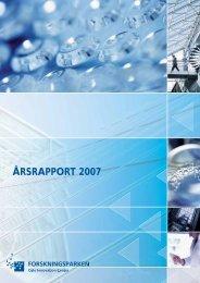 ÅRSRAPPORT 2007 - Forskningsparken AS